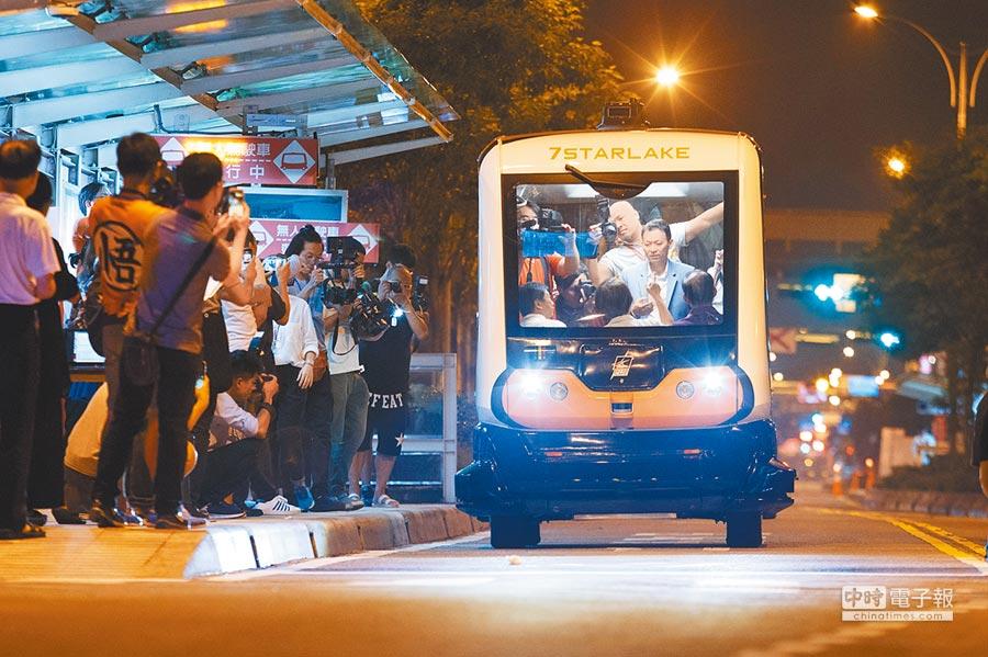立法院昨通過《無人載具科技創新實驗條例》,無人車明年初即可啟動實驗。(本報資料照片)