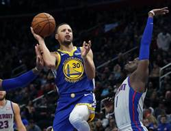 NBA》柯瑞復出轟27分 勇士仍輸活塞又連敗