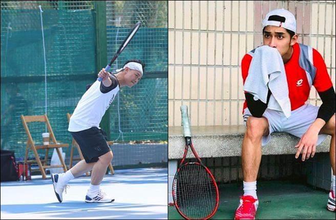 徐韜(右)表示最想跟陳奕迅(左)一起打網球。(圖/翻攝自陳奕迅、徐韜臉書)