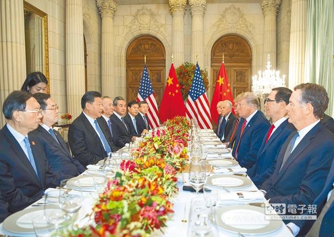 12月1日,大陸國家主席習近平與美國總統川普在阿根廷布宜諾斯艾利斯舉行高峰會,共進晚餐。(新華社)