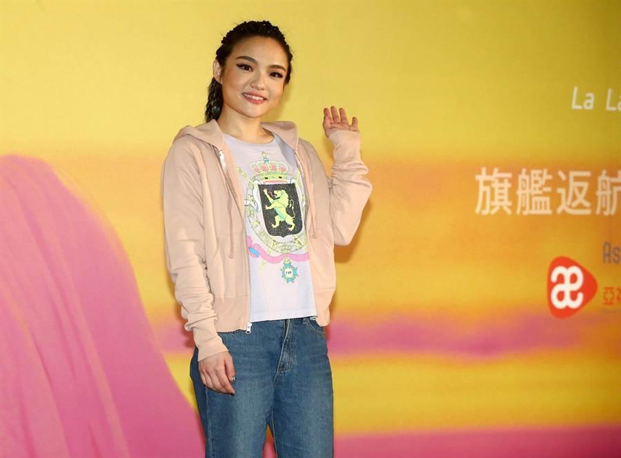 徐佳瑩昨出席演唱會慶功宴。(粘耿豪攝)