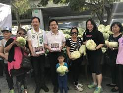 張廖萬堅與產業界助購2萬顆高麗菜  送愛給盲生!
