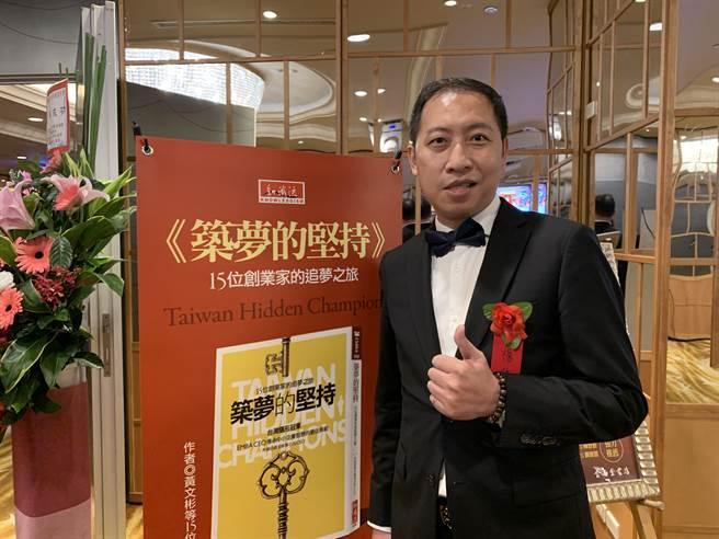 圓石禪飲集團董事長楊紘璋在就學期間獲益良多,除建立人脈外,也找到合作對象。(柯宗緯攝)