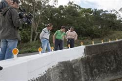外埔二崁路加裝水泥護欄變窄 盼截角改善