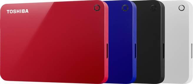 東芝推出全新4TB外接式硬碟Canvio Advance(圖/業者提供)