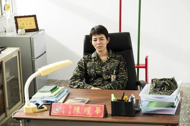 劉香慈在《女兵日記》晉升「最帥連長」。(圖/中天提供)