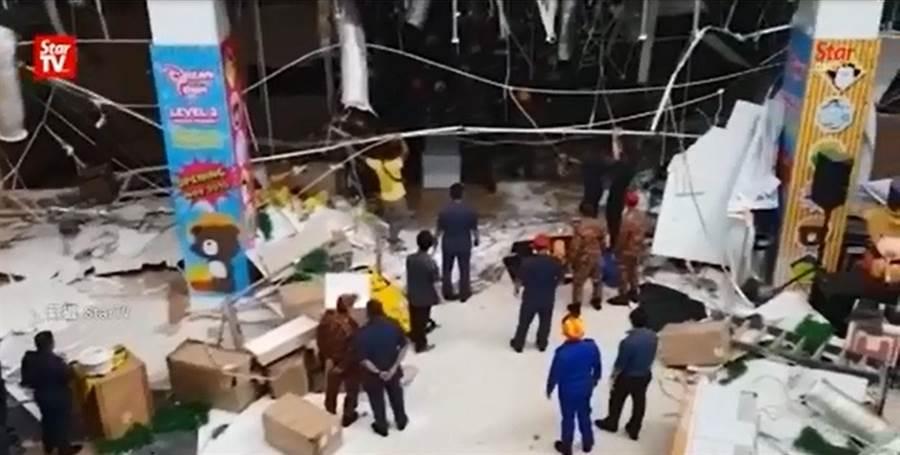馬來西亞砂勞越發生嚴重氣爆,氣爆現場凌亂不堪!(圖/取自中天新聞CH52)