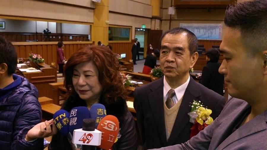 國民黨基隆市議長選舉,由現任議長宋瑋莉(左)及副議長蔡旺璉(右)2人角逐,11日將進行第2次協調,若沒有結果,14日辦理黨內假投票。(張穎齊攝)
