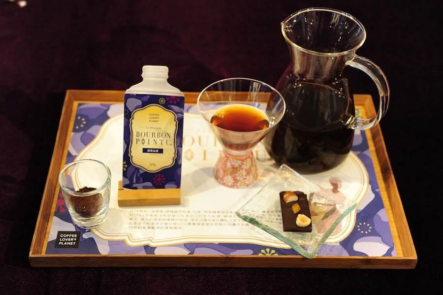 UCC旗下COFFEE LOVER's PLANET限量推出500杯「波旁尖身」單杯咖啡體驗,售價580元。(品牌提供)