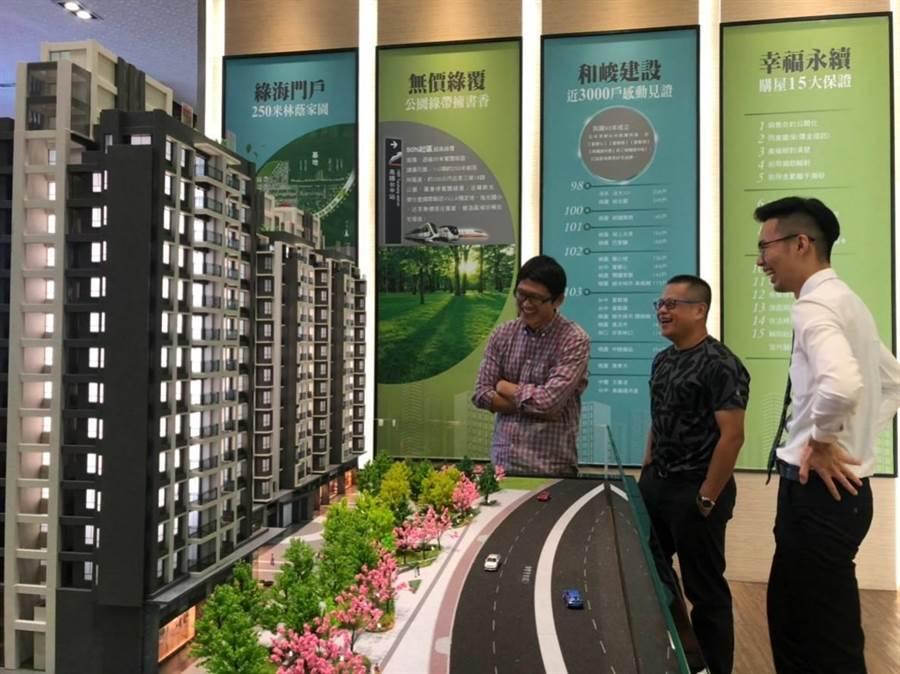 和峻建設的「高鐵捷市城」,已購客戶有很多來自跨縣市的彰化。(圖/曾麗芳)