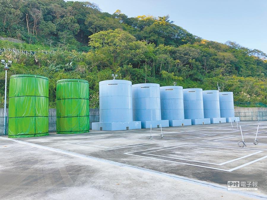 核一廠第1期乾式貯存場,台電稱因新北市不發水土保持執照卡關。(圖:台電提供)