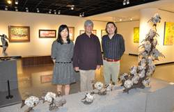 竹市3+1油版彩陶展  展現藝術家多元媒材創作