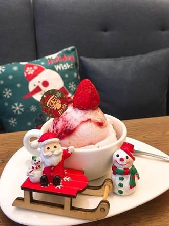 台中冰淇淋「草莓大爆棚」草莓季限定甜品這樣吃太幸福