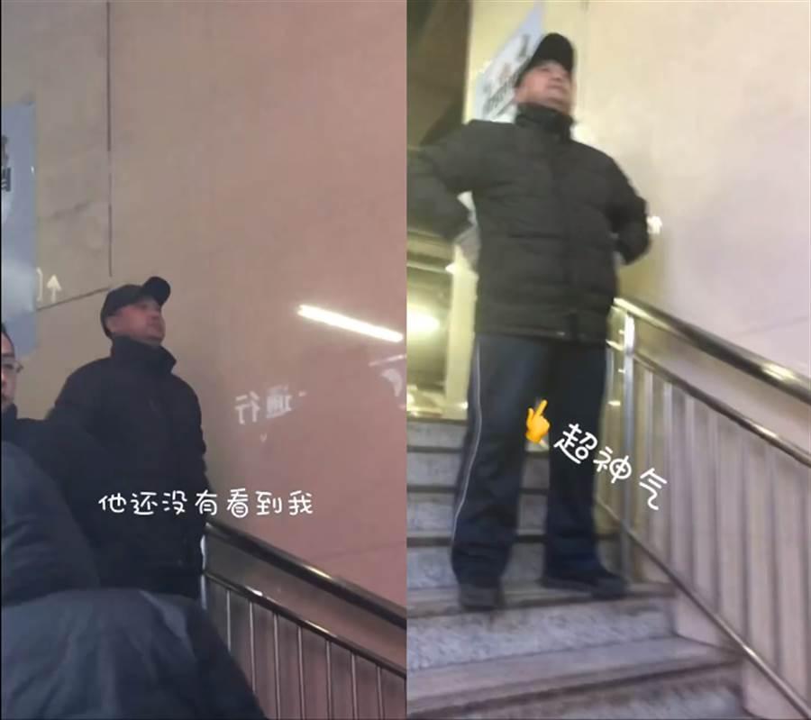 每次半夜回家爸爸都會到火車站接女兒(圖/翻攝自微博/@衝浪達人阿怡)