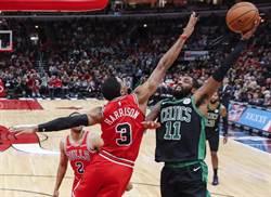 NBA》狂宰公牛56分!塞爾提克改寫隊史勝分紀錄