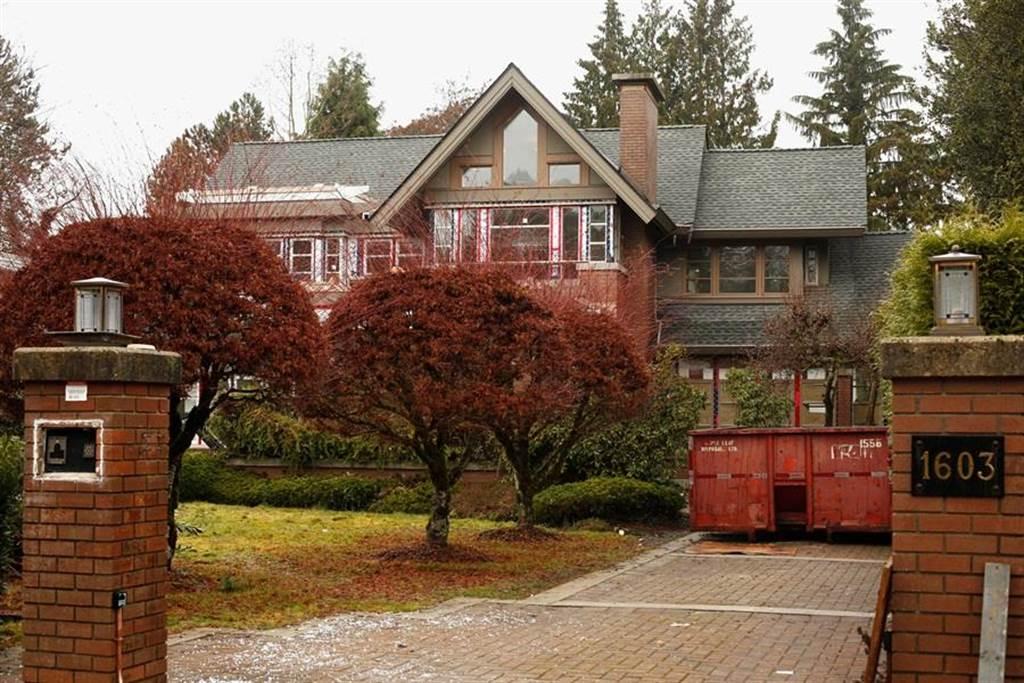 為保孟晚舟,媒體報導劉曉棕以溫哥華總價超過新台幣5億元的2棟豪宅作為保釋金,圖為坪數較大、位於蕭尼西社區(Shaughnessy)的宅邸。(圖/路透社)