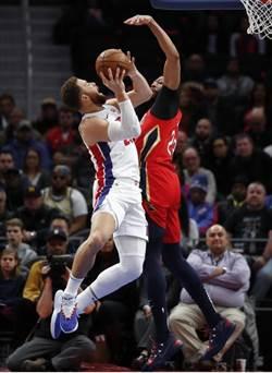 NBA》最強雙塔58分24籃板 活塞仍難逃4連敗