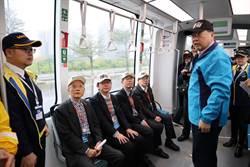 淡海輕軌紅樹林站至崁頂站完成履勘 可望年底通車