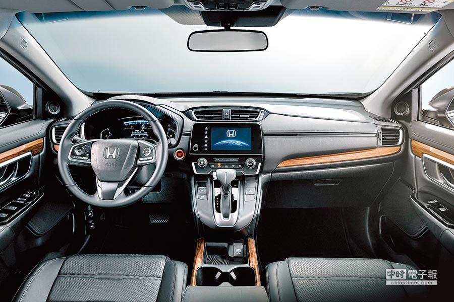 全彩液晶儀表和7吋觸控式音響主機整合,將駕駛人常用的行車介面,整合在駕車視野的範圍內。(Honda Taiwan提供)