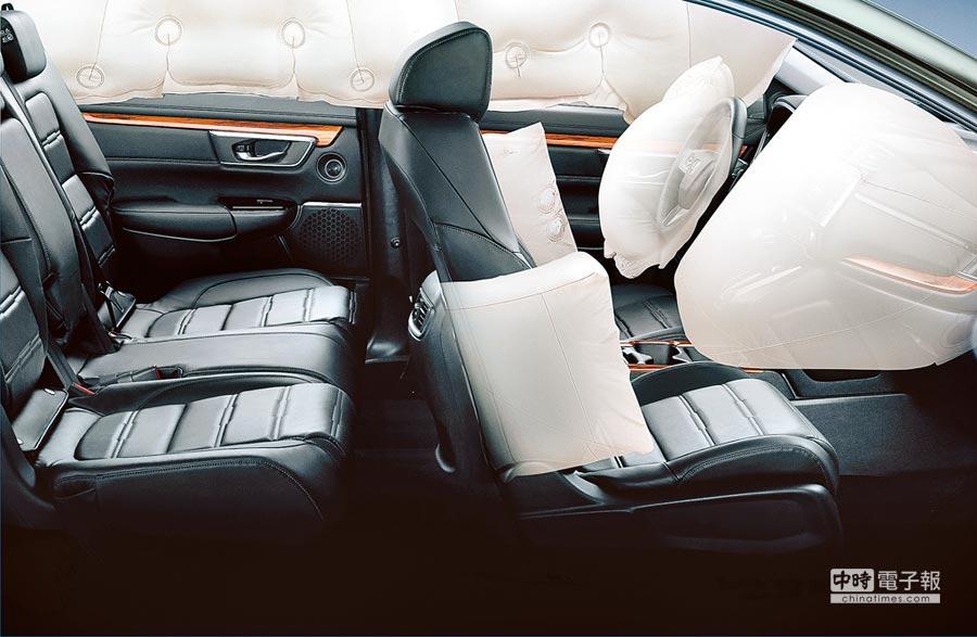 全車系標配6SRS氣囊,提供更周全的保護。(Honda Taiwan提供)