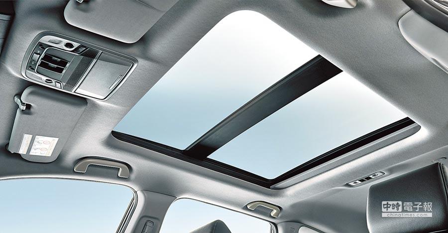 Honda CR-V 1.5 S配備全景式天窗。(Honda Taiwan提供)