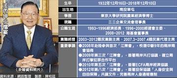 兩岸舵手江丙坤辭世 享壽86歲