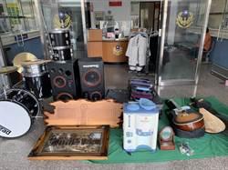 男子吸毒缺錢 偷竊賣場衣服鞋子音響搬回家自開五金行