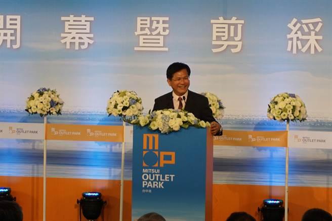 台中市長林佳龍引進日商投資三井OUTLET PARK台中港。(王文吉攝)