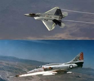 影》猛禽鬥天鷹!F-22與A-4的空中追逐戰