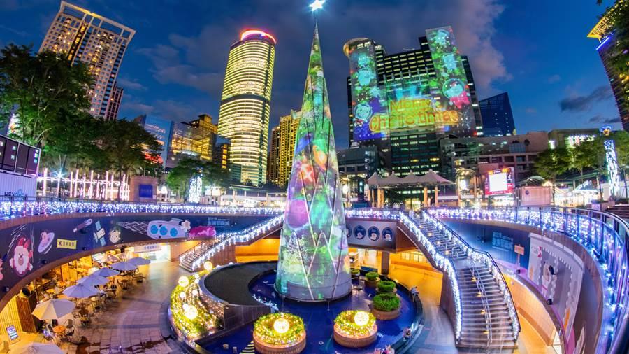 新北市歡樂耶誕城今年首度將絕美燈區延伸至府中商圈,超夢幻燈區空前華麗登場!