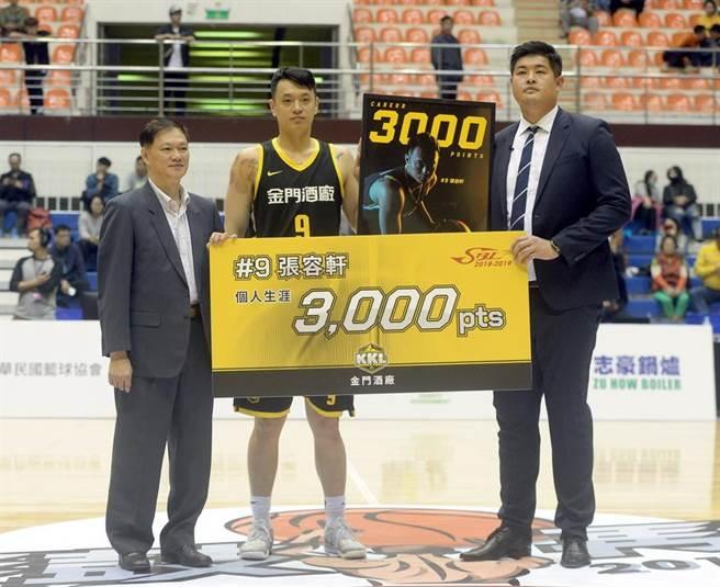張容軒成為SBL史上第15個「3000分先生」。(中華籃協提供)