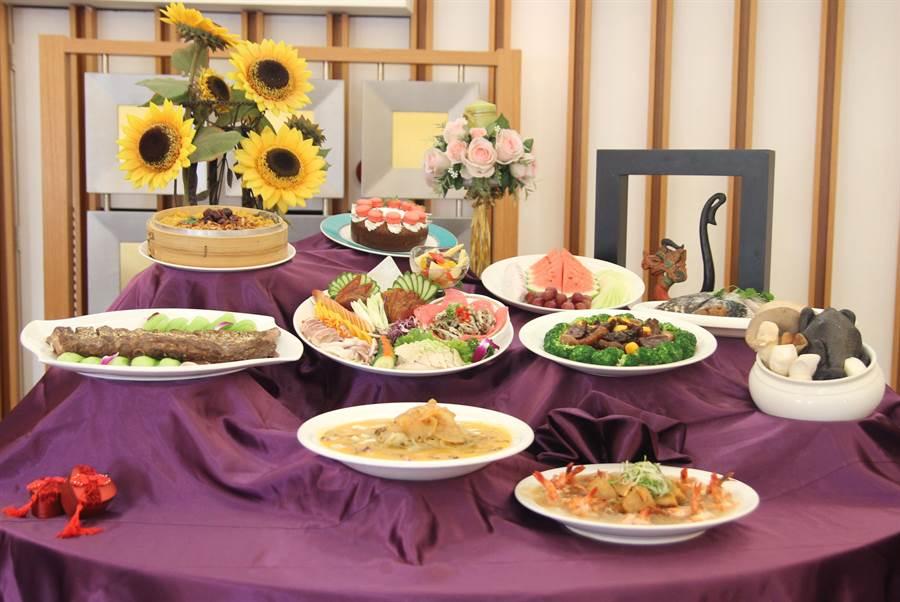 劍湖山渡假大飯店搶攻新春圍爐宴及年菜外帶商機。(圖/業者)