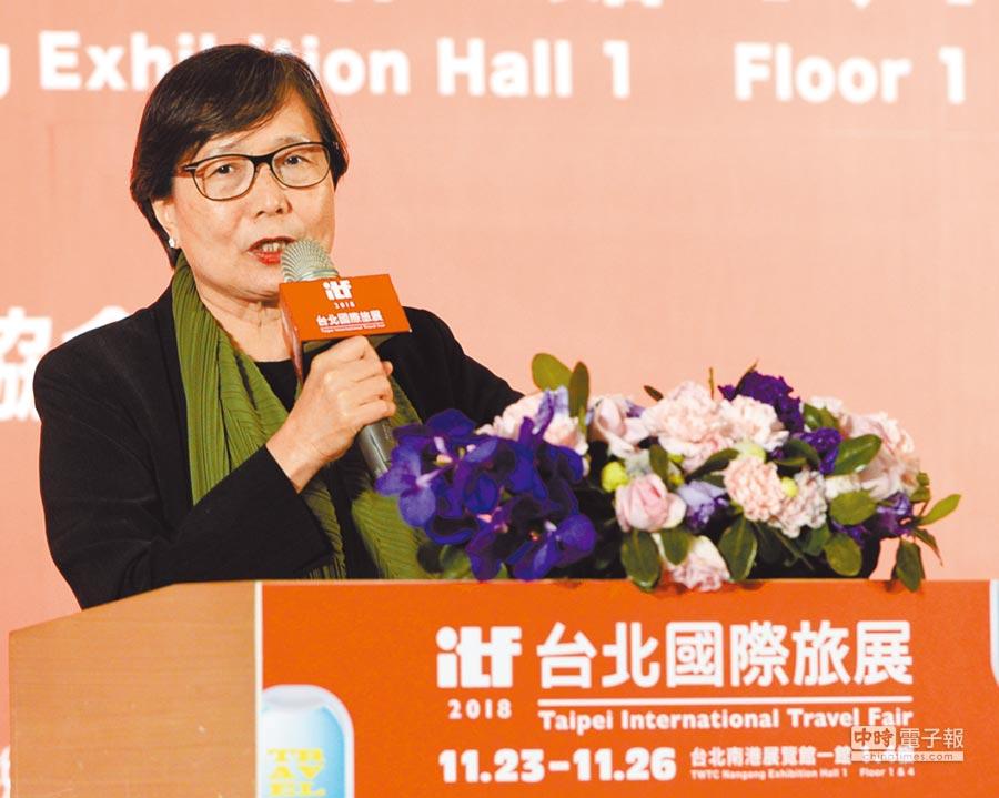 台灣觀光協會會長葉菊蘭。(本報系資料照片)