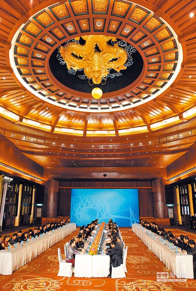 2012年8月9日,第八次江陳會在台北圓山飯店舉行。(本報系資料照片)