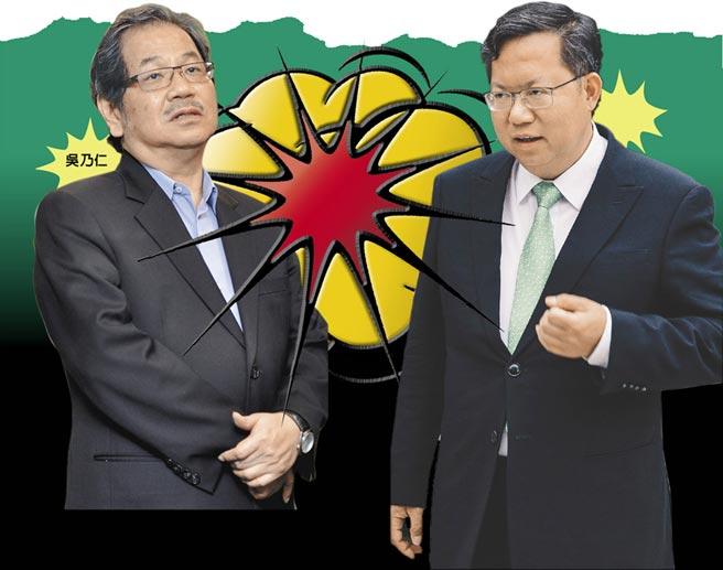 吳乃仁(左)鄭文燦(右)