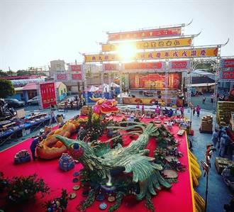台南幫起源地廟宇建醮 龍鳳造型創意供品壯觀