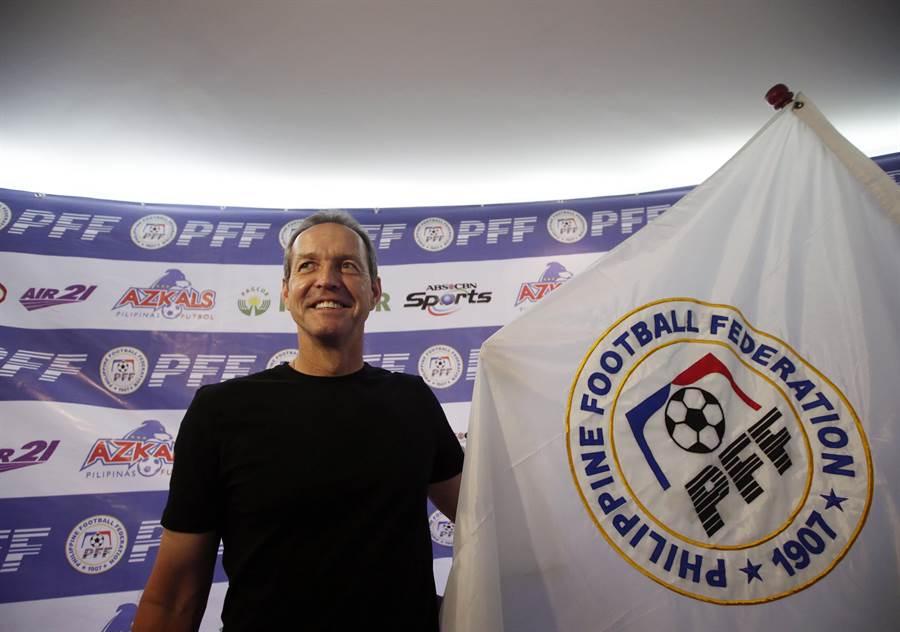 前美國國家隊隊長杜利執教菲律賓國家隊4年,帶領球隊首度打入亞洲盃會內賽。(美聯社資料照)