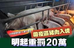 《中時晚間快報》帶疫區豬肉入境 明起重罰20萬