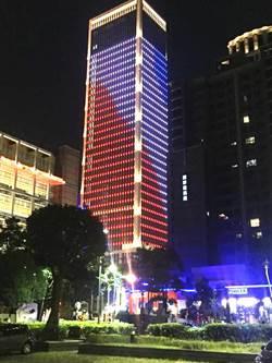 中市地標建築聯聚中雍大廈 倒數燈光秀迎跨年
