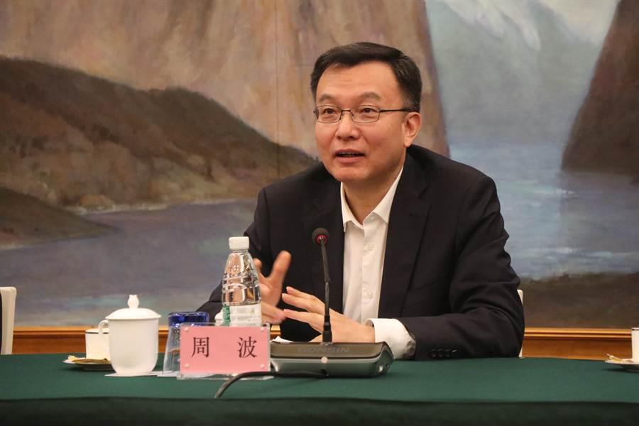 上海市常務副市長周波19日將訪台參加雙城論壇,期待能就循環經濟如垃圾分類儲運等做交流,並與台北產業界人士進行接觸。圖:吳泓勳攝