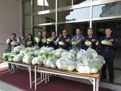 南市巡守大隊助農民 購買高麗菜送員警