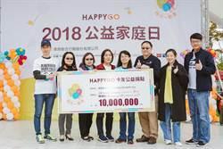 HAPPY GO號召千萬卡友 捐點響應公益