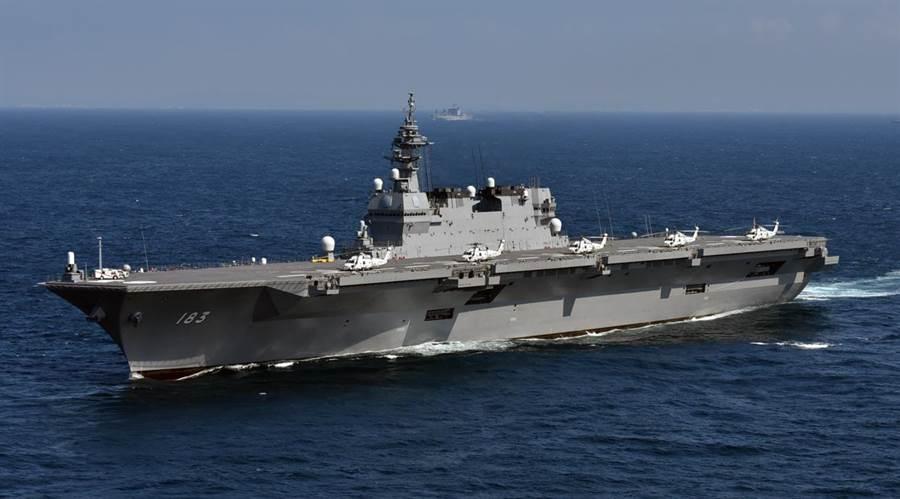 日本新防衛計畫大綱中決定將決定將出雲級護衛艦航母化。(圖取自日本海上自衛隊)