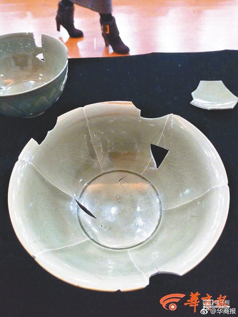 富平縣銀溝遺址採集的瓷器。(取自微博@華商報)