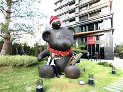 台灣大道可愛大熊公共藝術成吸睛地標