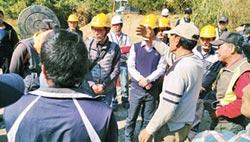 民眾包圍工地 台電暫緩施工