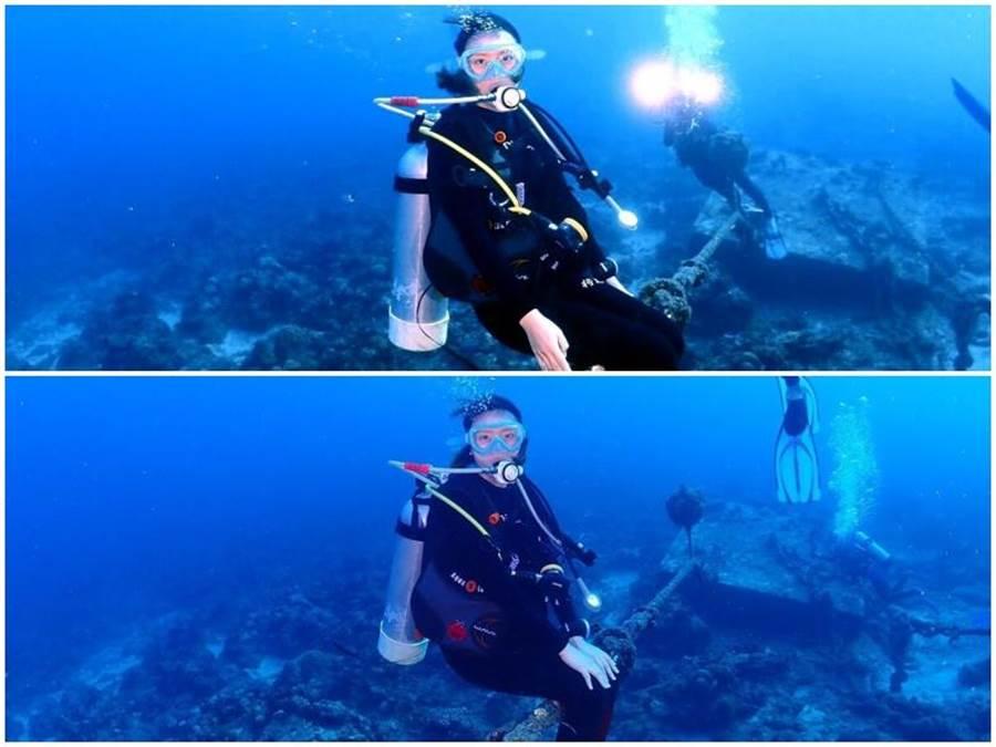 享受潛水樂趣。(取自臉書)