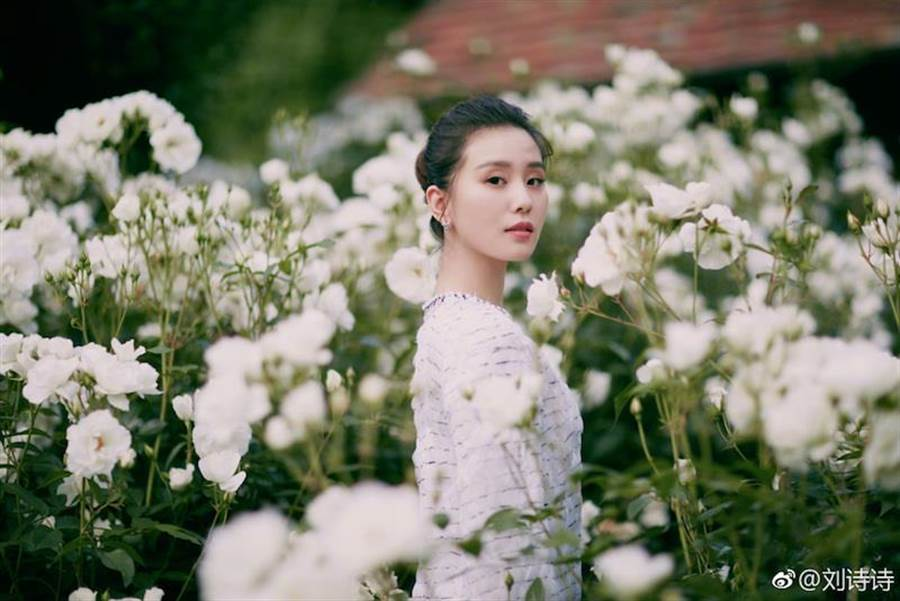 劉詩詩氣質優雅。取自微博