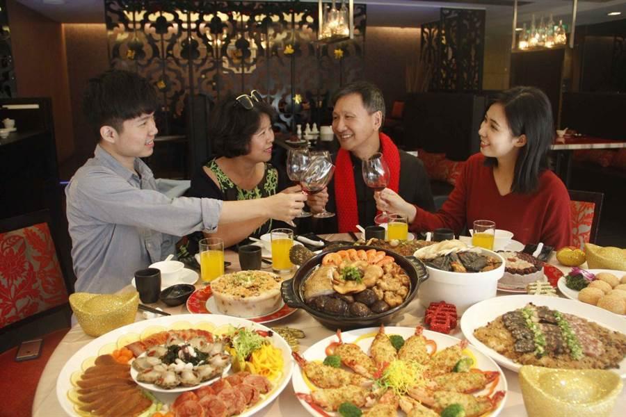 老牌的大億麗緻酒店推出的年菜十分受消費者青睞。(大億麗緻酒店提供)