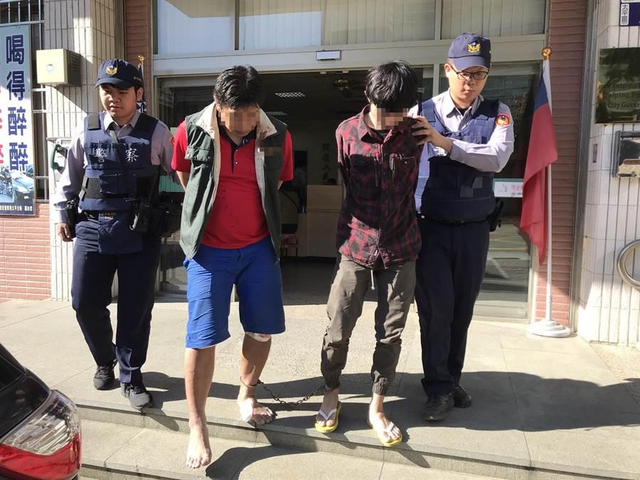 警方除釐清車禍肇事原因,也將兩名逾居留的移工移送移民署專勤隊。(馮惠宜翻攝)